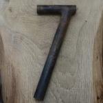 Winkelsattelstütze, Durchmesser: 24,3 mm, Länge: 240 mm, gebraucht, orig. 10-40er Jahre, Zustand siehe Bilder.