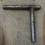 Winkelsattelstütze, Durchmesser: 22,1 mm, Länge: 175 mm, gebraucht, orig. 10-40er Jahre, Zustand siehe Bilder.