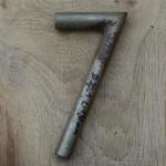 Winkelsattelstütze, Durchmesser: 20,1 mm, Länge: 190 mm, gebraucht, orig. 10-40er Jahre, Zustand siehe Bilder.