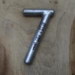 Winkelsattelstütze, Durchmesser: 23 mm, Länge: 180 mm, gebraucht, orig. 10-40er Jahre, Zustand siehe Bilder.