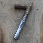 Winkelsattelstütze, Durchmesser: 25,4 mm, Länge: 190 mm, gebraucht, orig. 10-40er Jahre, Zustand siehe Bilder.