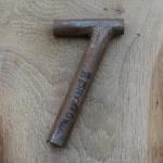 Winkelsattelstütze, Durchmesser: 25,4 mm, Länge: 180 mm, gebraucht, orig. 10-40er Jahre, Zustand siehe Bilder.