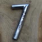 Winkelsattelstütze, Durchmesser: 26 mm, Länge: 170 mm, gebraucht, orig. 10-40er Jahre, Zustand siehe Bilder.
