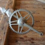 Tretlager Glockenausf. Achslänge 132 mm, Kurbellänge 170 mm,  60er Jahre
