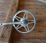 Tretlager Glockenausf. Achslänge 136 mm, Kurbellänge 172 mm,  50er Jahre