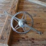 Tretlager Glockenausf. Achslänge 140 mm, Kurbellänge 172 mm,  50er/60er Jahre