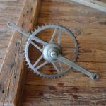 Tretlager Glockenausf. Achslänge 142 mm, Kurbellänge 172 mm,  50er/60er Jahre