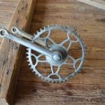 Tretlager Glockenausf. Achslänge 140 mm, Kurbellänge 170 mm,  50er Jahre