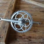 Tretlager Glockenausf. Achslänge 132 mm, Kurbellänge 172 mm,  30er bis 50er Jahre