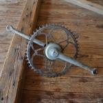 Tretlager Glockenausf. Achslänge 136 mm, Kurbellänge 178 mm, 30er bis 50er Jahre