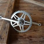 Tretlager Glockenausf. Achslänge 136 mm, Kurbellänge 170 mm, 60er Jahre