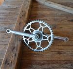 Tretlager Glockenausf. Achslänge 136 mm, Kurbellänge 170 mm,  50er bis 60er Jahre