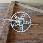 Tretlager 5/8 Zoll, Glockenausf. Achslänge 118 mm, Kurbellänge 180 mm,  20er bis 30er Jahre