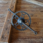 Tretlager schwarz, Glockenausf. Achslänge 136 mm, Kurbellänge 170 mm,  40er Jahre