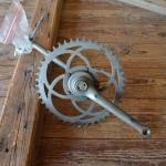 Tretlager Glockenausf. Achslänge 127 mm, Kurbellänge 163 mm,  20er Jahre