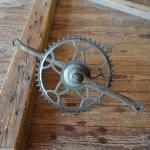 Tretlager Glockenausf. Achslänge 136 mm, Kurbellänge 172 mm,  30er bis 50er Jahre