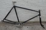 """Fahrradrahmen""""Esco"""" (Speiermann und Weigel, Chemnitz) Herrenausf. 26 Zoll, Stahl, schwarz, RH=55 cm, 30er Jahre"""