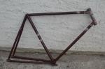 """Fahrradrahmen """"Victoria"""" Herrenausf. 28 Zoll, Stahl, dunkelrot, RH=60 cm, 20er Jahre"""