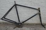 """Fahrradrahmen """"NSU"""" Herrenausf. 28 Zoll, Stahl, schwarz, RH=56 cm, 40er Jahre"""