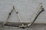 """Fahrradrahmen """"Panther"""" Damenausf. 28 Zoll, Stahl, überlackiert, RH=55 cm, 10/20er Jahre"""