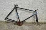 "Fahrradrahmen ""Original CZ Radial"" Herrenausf. 26 x 2,00, Stahl, RH=55 cm, 30er Jahre."