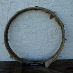 Wulstfelgensatz 28 Zoll, Breite 33 mm, Linierung blau-weiß