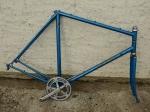 "Fahrradrahmen Rennrad ""Coppi"", Rahmenhöhe 58 cm, Rahmennummer 168xxx, blau metallic"