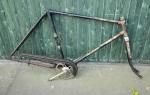 """Fahrradrahmen """"Barbara"""", Rahmenhöhe 55 cm, 28 Zoll, mit Gabel und Tretlager"""