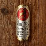 """Steuerkopfschild  """"NIMROD"""", 50/60er Jahre,  Originalschild aus Sammlungsauflösung !"""