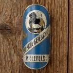 """Steuerkopfschild  """"SELECTA Gesellschaft"""", Bielefeld, 50/60er Jahre,  Originalschild aus Sammlungsauflösung !"""