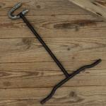 """Ausstellungs Ständer, """"Ständer f. Rahmenklemmung"""", Stahl, Breite 29cm Höhe 40cm, gebraucht, Maulweite ca. 25mm"""