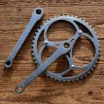Tretlager Kurbelsatz mit Kettenrad , orig. 30-60er Jahre, hochwertige orig. alte Neuware aus Lagerbestand, rar
