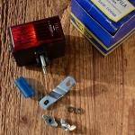 Batterierücklicht, REG, orig. 60-80er Jahre, damals gängig an Rennrädern und Importrädern.
