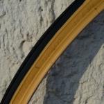 Rennrad Reifen, 28 x 3/4 (20-622) oder 700 x 20 C, braun-schwarz, rarer Altbestand der schmalen Reifenklassiker