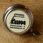 """Fahrrad/Moped Klingel Deckel """"KRUPPA Hannover"""", orig. 50er Jahre, verchromt, ohne Unterteil, ggf. Gebrauchsspuren, siehe Bilder"""