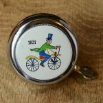 """Fahrrad/Moped Klingel Deckel """"1821"""", orig. 70er Jahre, verchromt, ohne Unterteil, ggf. Gebrauchsspuren, siehe Bilder"""