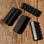 Bremsklötze für Rennradklassiker / Sportrad,  orig. Satz 4 Stück, schwarz, ca. 40 x 11,5 mm