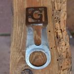 Carbidlaternenhalter Orig. GÖRICKE, gebraucht mit Patina, s. Bilder,  orig. 10-30er Jahre, Montage am Steuersatz