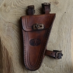 """Werkzeugtasche """"EULE"""",  Herrenrad, Leder, hellbraun, orig. 30/40er Jahre, altersbed.  Patina"""