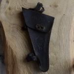 Werkzeugtasche VELEDA,  Damenrad, Leder, braun, orig. 30/40er Jahre, altersbed.  Patina