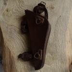 Werkzeugtasche MIELE,  Damenrad, Leder, braun, orig. 50er Jahre, altersbed.  Patina