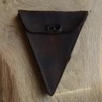 Werkzeugtasche Spitztasche ADLER, Herrenrad, Leder, braun, orig. 20er Jahre, altersbed.  Patina