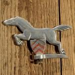 Schutzblechfigur Pferd , Alu Druckguss, orig. Altbestand 50er Jahre, Zustand s. Bild