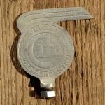 Schutzblechfigur CITO Allright, Eisen, verchromt, orig. Altbestand 30er Jahre, Zustand s. Bild