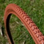 Fahrrad Reifen 28 x 1 1/2, (40-635), ziegelrot, klassische Ausführung