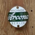 Steuerkopfschild  ARCONA, Berlin, 20-30er Jahre, Originalschild aus Sammlungsbestand
