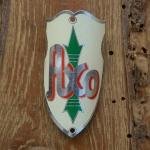 Steuerkopfschild  AXO, 30-50er Jahre, Originalschild aus Sammlungsbestand