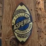 Steuerkopfschild  ASPERIA, 30-50er Jahre, Originalschild aus Sammlungsbestand