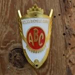 Steuerkopfschild  ABC, Atlas Bicycle Corp., 30-50er Jahre, Originalschild aus Sammlungsbestand