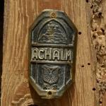 Steuerkopfschild  ACHALM, 30-50er Jahre, Originalschild aus Sammlungsbestand